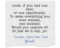 Look, if you had one 