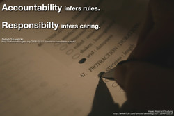 Accountability infers rules. 