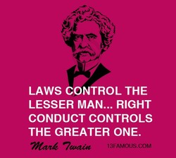 LAWS CONTROL THE 