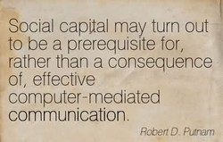 Social capttal may turn out 