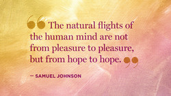 The natural flights of 