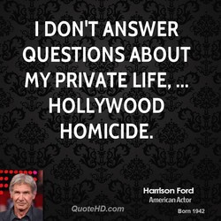 I DON'T ANSWER 