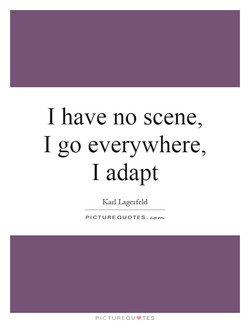 I have no scene, 