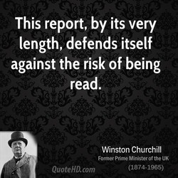 This report, by its very 