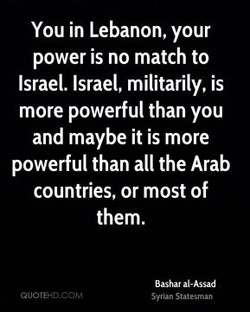 You in Lebanon, your 