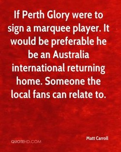 If Perth Glory were to 