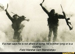 If a man says he is not afraid of dying, he is either lying or is a 