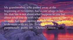 My grandmother, who passed away at the 