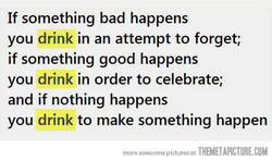 If something bad happens 