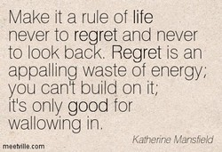 Make it a rule of life 