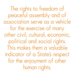 The rights to freedom of 