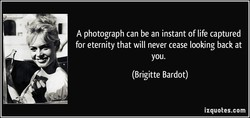A photograph can be an instant of life captured 