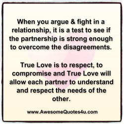 When you argue & fight in a 