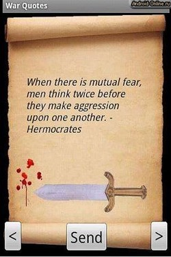 When there is mutual fear, 