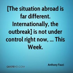 (The situation abroad is 