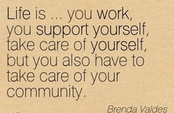 Life is you work, 
