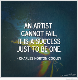 AN ARTIST 