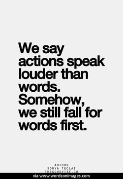 We say 