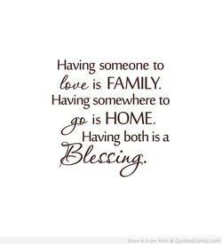 Having someone to 
