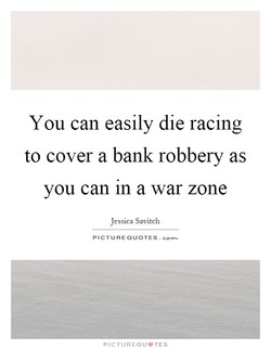 You can easily die racing 