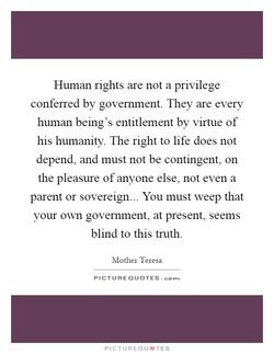 I--luman rights are not a privilege 