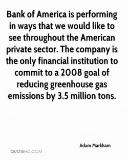 Bank of America is performing 
