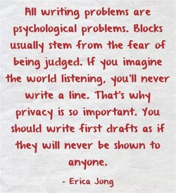 All writing problems are 