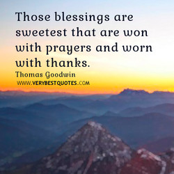 Those blessings are 