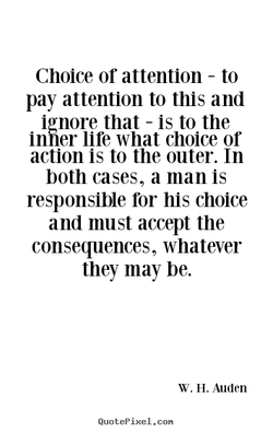 Choice or attention - to 