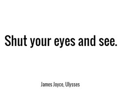 Shut your eyes and see. 
