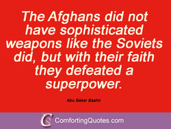 The Afghans did not 