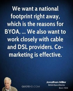 We want a national 