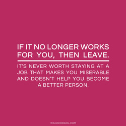 IF IT NO LONGER WORKS 