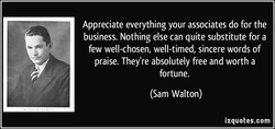 Appreciate everything your associates do for the 
