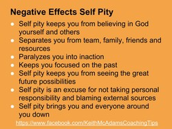 Negative Effects Self Pity 