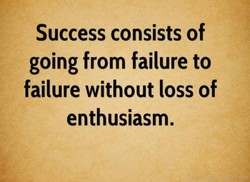 Success consists of 