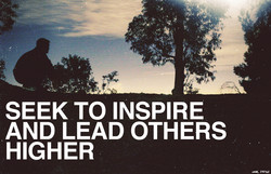 SEEK TO INSPIRE 