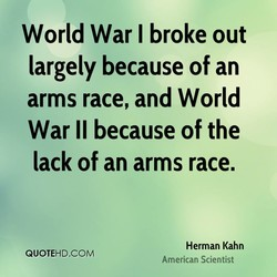 World War I broke out 