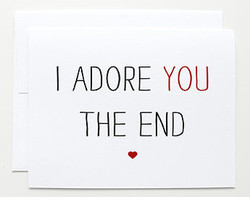 I ADORE YOU THE END