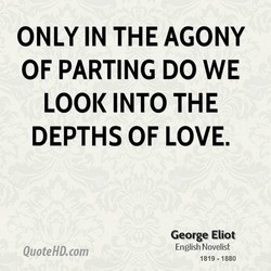 ONLY IN THE AGONY 