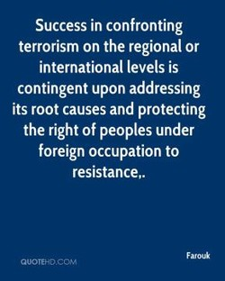 Success in confronting 