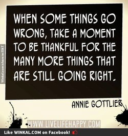 WHEN SOME THINGS go 