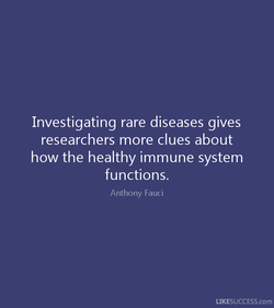 Investigating rare diseases gives 