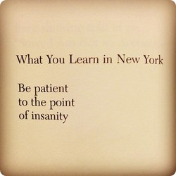 What You Learn in New York 