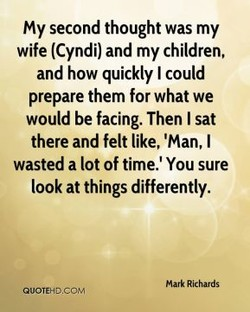 My second thought was my 