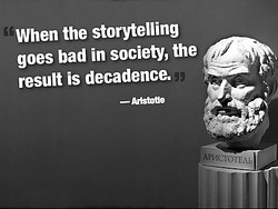 When the storytelling 