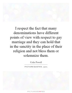 I respect the fact that many 