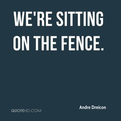 WE'RE SITTING 