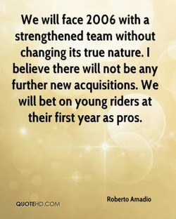 We will face 2006 with a 