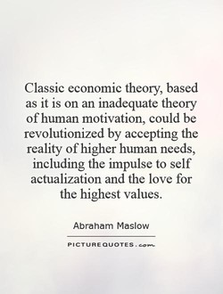 Classic economic theory, based 